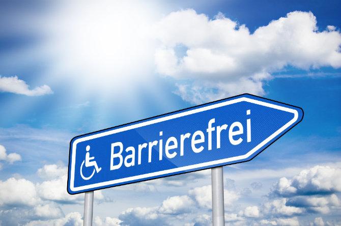 Tafel barrierefrei