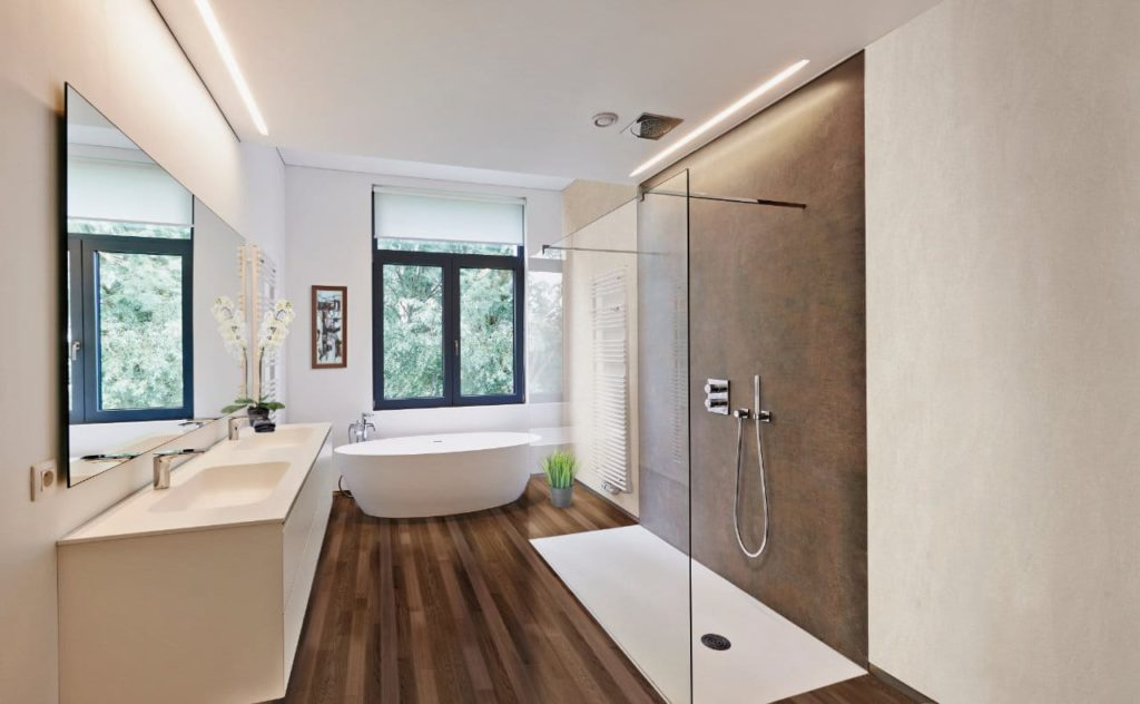 Bild zeigt freistehende Badewanne