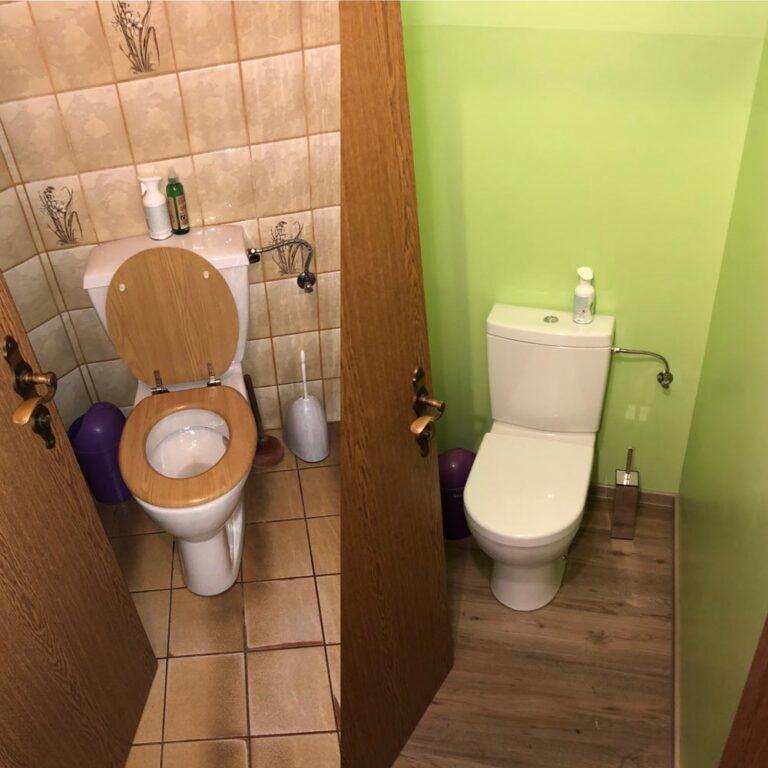 WC Sanierung ohne Fliesen